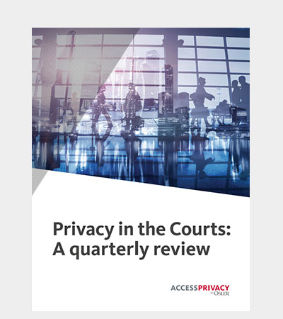 Privacy in the Courts
