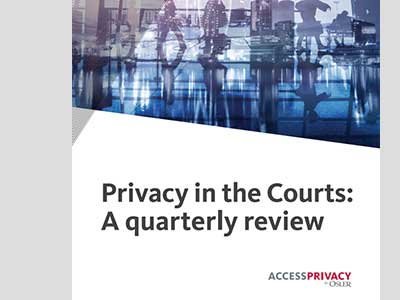 Privacy in the Courts report